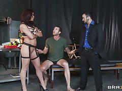 Pornstar fucked from both ends