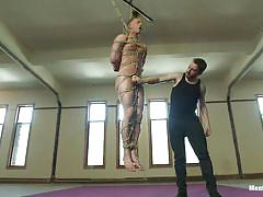 bdsm, hanging, whipping, tied up, gay, ropes, shibari, cbt, men on edge, kink men, jr matthews