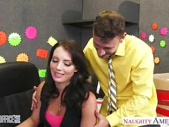 Brunette kayla west take cock in the office