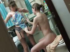 Lesbians - hot shower