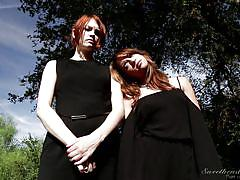 Blonde and redhead get naughty