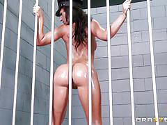 blonde, threesome, big ass, prison, blowjob, brunette, busty babes, police uniform, oiled asses, big wet butts, brazzers network, jada stevens, anikka albrite, keiran lee
