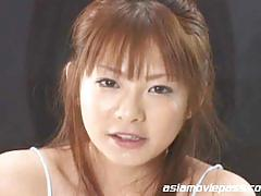 Sweet japanese cum eating babe