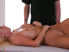 Milf gets cumshot across big tits