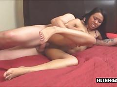 Interracial fuck for busty broad