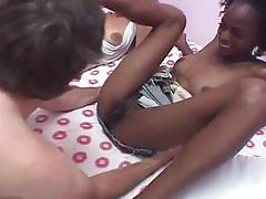 Ebony amateur sluts riding a white cock