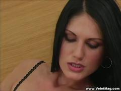 Slim czech brunette sarah twain sucks big cock.