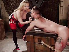 anal, femdom, strapon, punishment, busty milf, sex slave, blonde mistress, device bondage, divine bitches, kink, sergeant miles, aiden starr