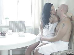 Milf makes passionate love