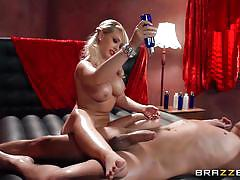 milf, blonde, massage, big tits, footjob, blowjob, oiled, pussy licking, 69 position, dirty masseur, brazzers network, kagney linn karter, xander corvus
