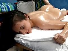 Melaine goes erotic in oily massage