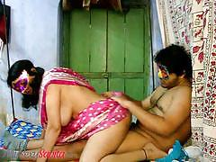 Busty indian wifey savita amateur sex action