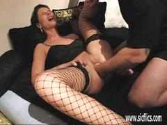 Massive vaginal fisting for horny wife