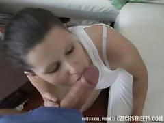Perfect czech brunette iveta fucks and sucks.