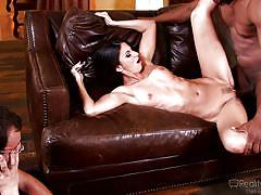 Milf gets stuffed with bbc in front of her man @ mom's cuckold #16