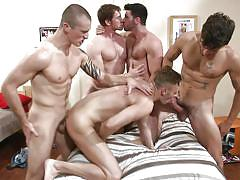 tattoo, dorm, hand job, gays, big dick, dick sucking, gay anal, gay group sex, gay orgy, jizz orgy, men, connor maguire, billy santoro, connor kline, dale cooper, colden armstrong