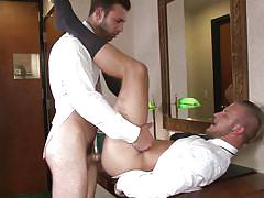 tattoo, big cock, muscled, ass fucking, gay anal, gay, eating ass, gay office, the gay office, men, jarec wentworth, jaxon colt