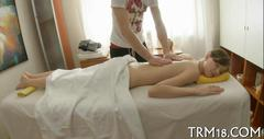 Smoking hot massage session