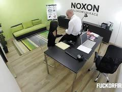 Hot young vietnamese gets fucked at the office