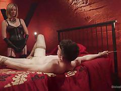 femdom, mistress, strap on, slave, face fuck, pegging, anal sex, blonde milf, rope bondage, divine bitches, kink, maitresse madeline, artemis faux
