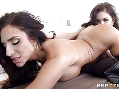 lesbians, rimjob, stockings, kissing, brunette, pussy eating, busty milfs, hot and mean, brazzers network, jaclyn taylor, jessica jaymes