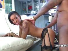 Slutty wife skin diamond takes a cock in her ebony twat