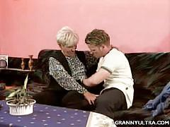Granny susan welcoming guest through seduction