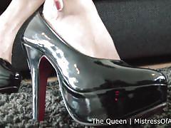 Bad ass asian mistress and her high heels