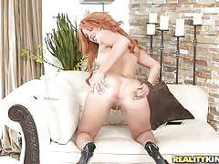 Danira gets her bush licked