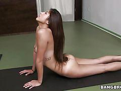 Yoga dick sucking