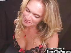 fucked, milf, blowjob, wife, bdsm, doctor, bondage, speculum, exam, red, pain, head, electricity