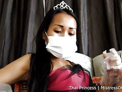 Joon dominates her stinky slave