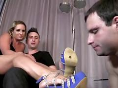Princess make out, chastity slave made to watch