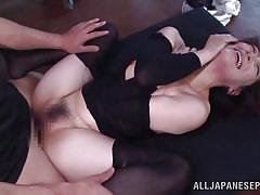 Anal fucked asian gets facial