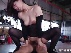 threesome, anal, babe, asian, double penetration, brunette, cum on face, anal nippon, all japanese pass, marina matsumoto