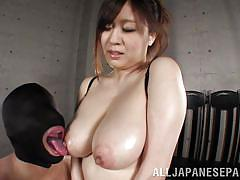 milf, asian, huge tits, nipple sucking, squeezing boobs, tit groping, masked man, idols 69, all japanese pass, nana aoyama