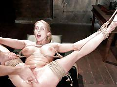 anal, bdsm, tied, domination, busty, fingering, gape, blonde milf, sex toys, rope bondage, hogtied, kink, christie stevens