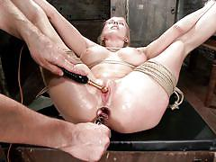 Tied milf gets fingered