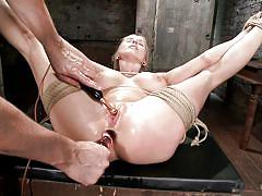 Tied milf gets fingered