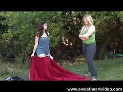 Lesbian hitchhiker sweetheart's dyke deeds