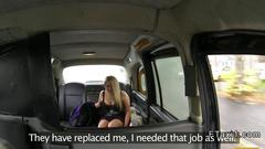 British blonde bbw anal banged in fake taxi