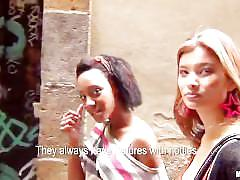 ebony, pov, threesome, outdoors, public, outside, 3some, ffm, point-of-view, 3way, asian, reality, gonzo, natural-tits, girl-on-girl, blow-job, spreading, riding
