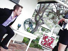 babe, cheating, blowjob, business, brunette, outdoors, devils film, fame digital, danica dillon