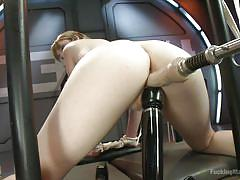 blonde, bdsm, babe, tied, masturbation, fucking machine, dildo, vibrator, fucking machines, kink, dolly leigh