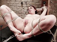 whip, spanking, babe, tied, vibrator, anal dildo, ass fucking, clit rubbing, rope bondage, hogtied, kink, sgt. major, mandy muse