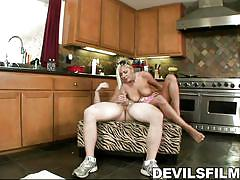 Blonde housewife fucked in the kitchen @ jon and kate fuck eight