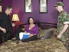 Police officer and an army guy got a blowjob @ coctomom