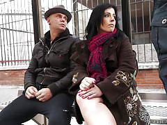 milf, threesome, street, amateur, pick up, public handjob, double blowjob, pussy fingering, big penis, evil angel, nacho vidal, jordi el nino polla, montse swinger