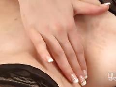Two gorgeous euro girls share a fat cock and cum swap