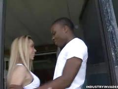 Amateur blonde interracial blowjob and sex window shopper panty dropper
